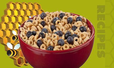 Healthy Breakfast Cereal with Bee Pollen and Honey
